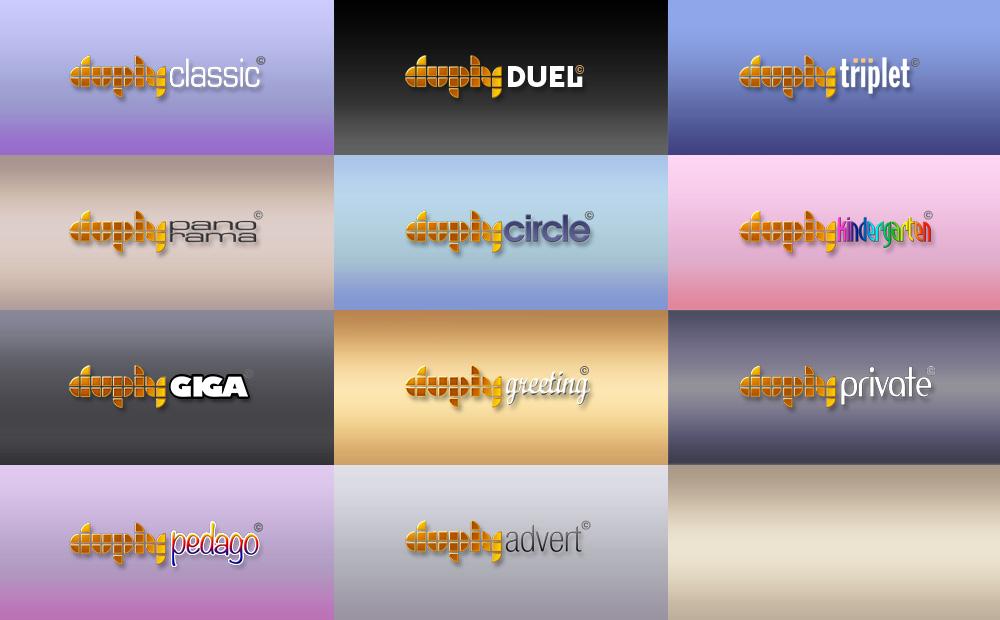 DUPLY Spiele-Logos