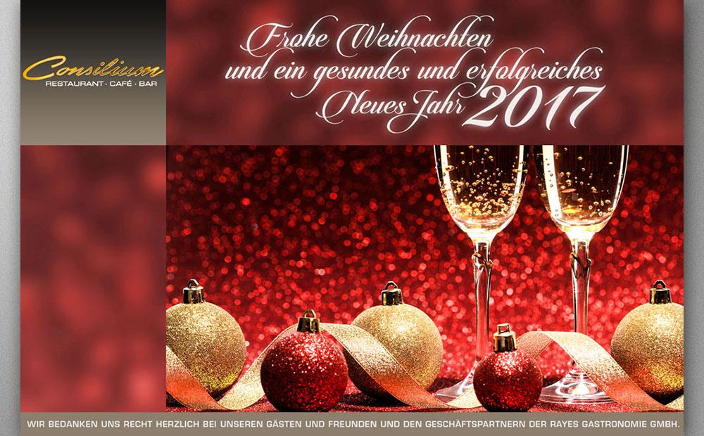 Post Weihnachtsgrüße Restaurant